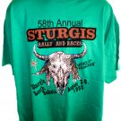 Vintage 1998 58th Annual Sturgis Bike Rally T-Shirt Size XXL