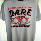 Vintage 1995 Property of DARE PROGRAM T-Shirt Size XL