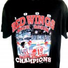 1998 Detroit Red Wings Stanley Cup Champions T-Shirt Size Large
