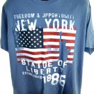 FREEDOM and SUPPORT UNITY New York T-Shirt Size XL Statue of Liberty