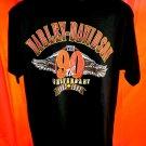 Vintage 1993 Harley Davidson T-Shirt Size XL 90th Anniversary Dealership St Paul Minnesota