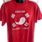Vintage KOREAN CULTURE CAMP T-Shirt Size XL