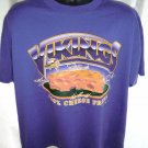 Funny 1998 Minnesota Vikings T-Shirt~ 100% Cheese Free ~ Size XL