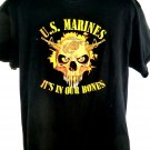 US MARINES It's In Our Bones T-Shirt Size Large USMC