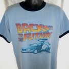Ringer T-Shirt BACK TO THE FUTURE Size Large