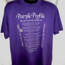 Favorite Color PURPLE ~ Purple Profile T-Shirt Size XL
