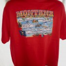 Montana Map T-Shirt Size XL MT