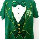 Funny Irish Luck Shirt St Patrick's Day Tuxedo Size XL