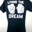 LIVING THE DREAM T-Shirt Remote and Beer Size Small NEW!