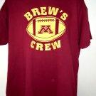 BREW'S CREW U of M University of Minnesota XL XXL T-Shirt Tailgating