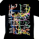 Manhattan Map Transit T-Shirt Size Large
