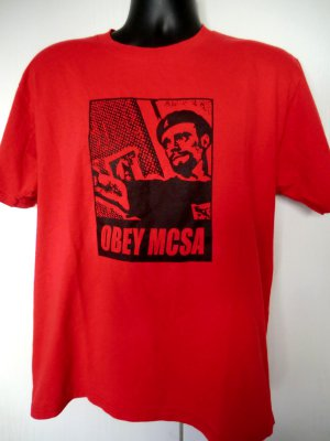 Red Protest T-Shirt OBEY MCSA Size Large