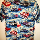 Reyn Spooner Hawaiian Shirt Muscle Car/ Cars Size XL