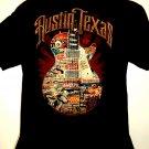 Austin Texas T-Shirt Size Large Guitar Live Music Lives Here