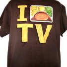 I (LOVE) TV DINNER T-Shirt Size Large