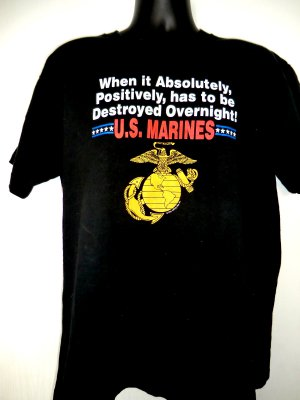 SOLD! Funny USMC Marines T-Shirt Size XL Vintage 1992