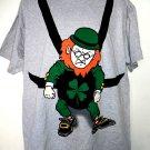 St Patrick's Day Leprechaun Large T-Shirt Size Lg