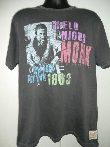 Rare Retro Thelonious Monk New York 1963 T-Shirt Size XL Jim Marshall