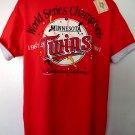 1991 MN Minnesota Twins World Series T-Shirt Red Size XL