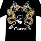 Thailand T-Shirt Dragons Size Large