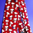 Mens Novelty SNOOPY/ Peanuts Tie 100% Silk  PS I LOVE YOU