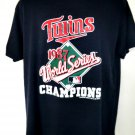 Rare 1987 Minnesota Twins World Series Thin T-Shirt Size XL