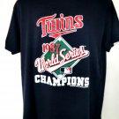 Rare 1987 Minnesota Twins World Series Thin T-Shirt Size XL