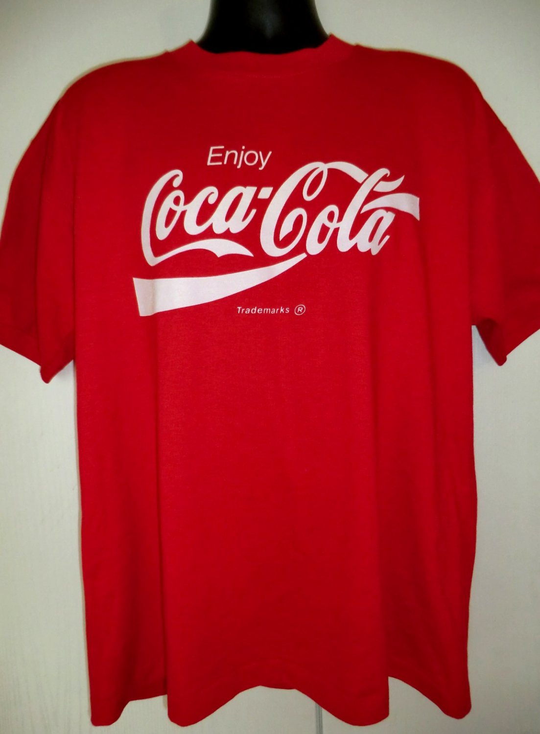 SOLD! Vintage Coca Cola Red T-Shirt Size XL Classic Coke Design