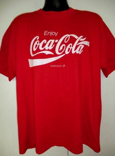 SOLD! Vintage Coca Cola Red T-Shirt Size XL Classic Coke Design