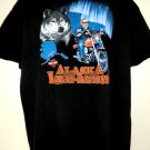 Black Harley Davidson Alaska Dealer T-Shirt XL 1996 Wolf