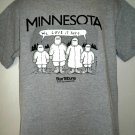 "Funny Vintage 1995 MINNESOTA WINTER T-Shirt Size Large ""We Love It Here """