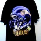 Minnesota MN Vikings Helmet T-Shirt Size XL