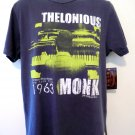 NEW! THELONIOUS MONK T-Shirt Retro 1963 NYC Size Medium  NWT Jim Marshall