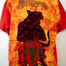 Rare Santana WORLD TOUR 1999 Red T-Shirt Size Large XL Panther Drum
