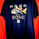 NEW! BASS to the BONE T-Shirt Size XL Fishing