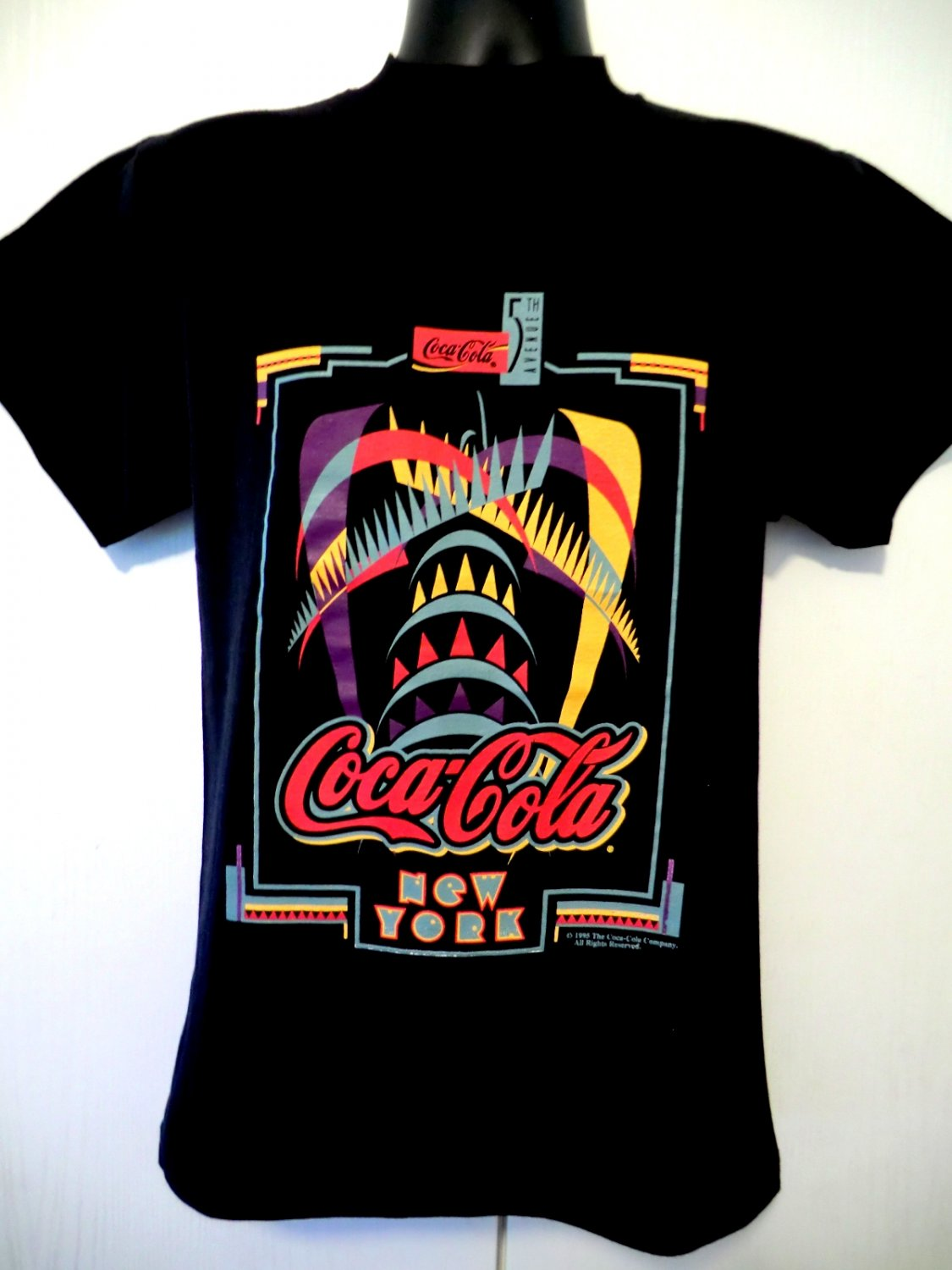 Vintage 1995 NYC New York Coca Cola Coke T-Shirt Size Small NEW NWT