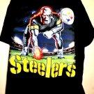 Rare Pittsburg STEELERS T-Shirt Size XL Liquid Blue
