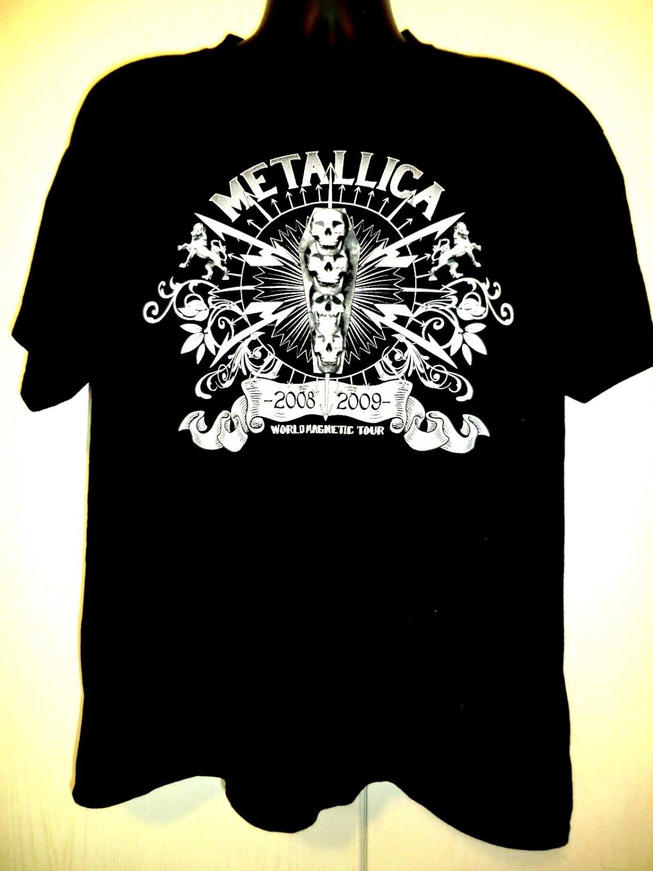 Metallica World Magnetic Tour T-Shirt Size Large