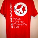 Join the Movement T-Shirt Peace Love Comparison Shop ~ Size Large
