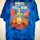 WMZQ 98.7 FM BULL RUN Vintage 1993 T-Shirt Size XL Jamboree 93