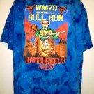 WMZQ 98.7 FM BULL RUN Vintage 1993 T-Shirt Size XL Jamboree 93