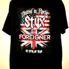STYX and FOREIGNER 2010 Tour T-Shirt Size XL