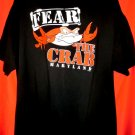 FEAR THE CRAB Maryland Souvenir T-Shirt Size XXL
