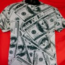 All About the Benjamins $100 Bills Graphic T-Shirt Size Large