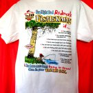 You Might Be A Redneck FISHERMAN T-Shirt Size Large Top Ten Reasons