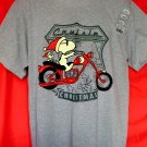 Peanut's SNOOPY Crusin Christmas T-Shirt NEW Size Large