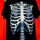 NEW! Skelton Rib Cage T-Shirt Size Large GLOWS in the DARK!