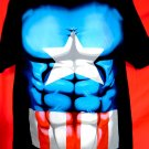 Marvel Comics CAPTAIN AMERICA T-Shirt Size XL New! Costume Shirt