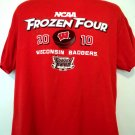NCAA Frozen Four 2010 T-Shirt Wisconsin Badgers Size Large