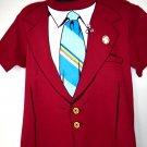 Anchorman Jacket T-Shirt Ron Burgundy Size Large